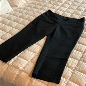 Women's black capri pants
